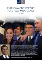 Cover of MBA employment report 2015